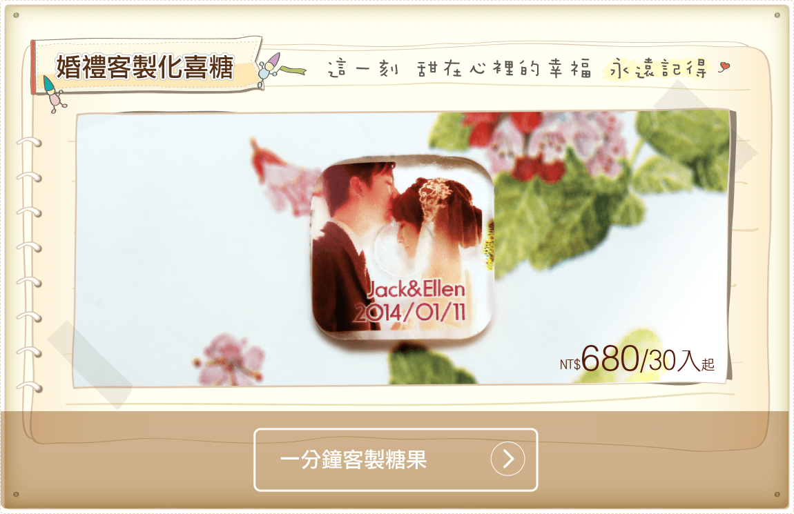 wedding candy_客製化送客喜糖_訂製婚禮小物_wedding favor_糖果印刷_水晶糖